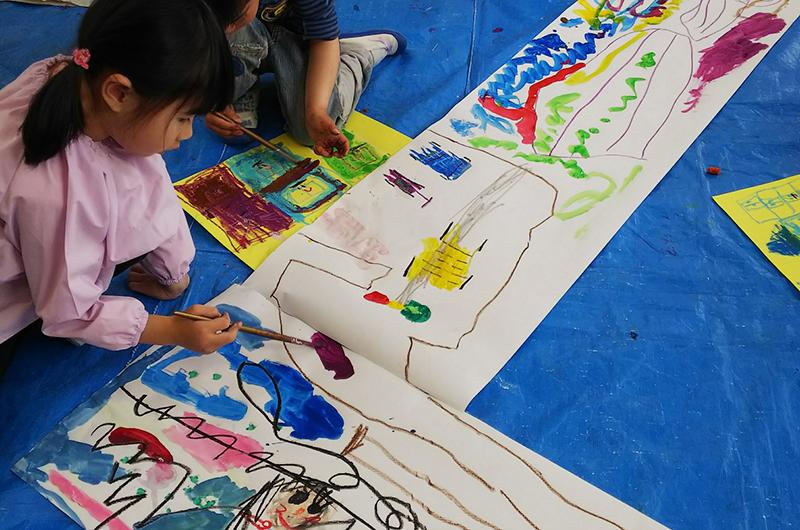 楽しいとんかち造形絵画教室!